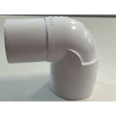 "Coude PVC blanc 90° 1"" Femelle/Mâle 33mm"