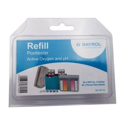 oxygène actif  et pH kit d'analyse  Pooltester - Bayrol
