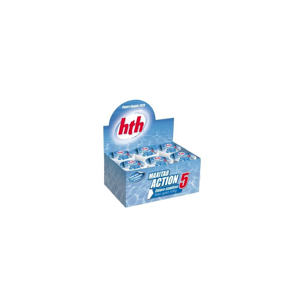 hth® - MAXITAB Action 5 Bloc 6 x  500g