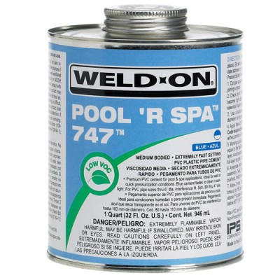 Colle pour tuyau spa (Pipe Cement) Weld-On 747