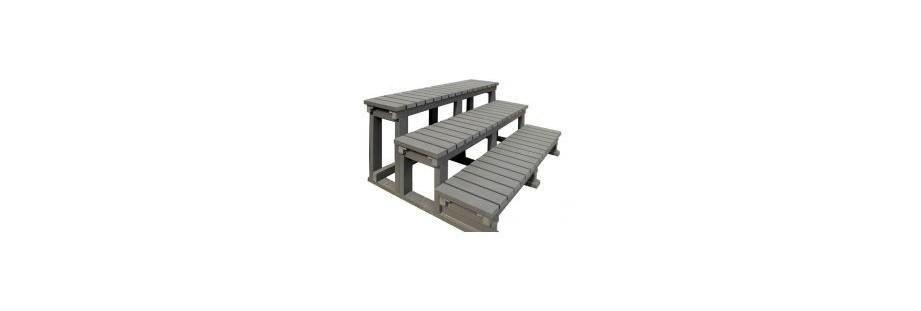 escalier d'accès pour votre spa de nage